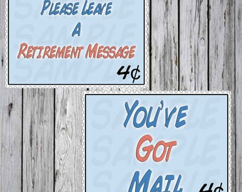 Mail Birthday party Posters  for retirement or Birthday Party USPS US Mail