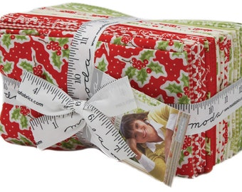 Moda Christmas Figs Fat Eighth Bundle 27 Pieces Precut Fabric Quilting Cotton Fig Tree & Co 20310F8