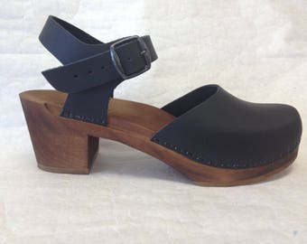 Design your Own Medium heel  Mary jane with buckled ankle strap