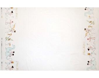 Magie magique parade - bordure Double de coton blanc Sarah Jane Michael Miller tissus métallique par la Cour de la moitié