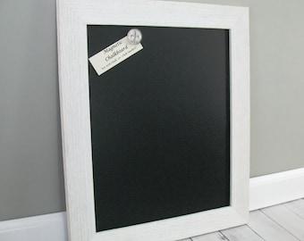 WHITE BARNWOOD Chalkboard MAGNETIC Rustic Barn Wood Framed Large Wedding Sign Kitchen Blackboard Restaurant Menu Board Chalk or Marker 13/16