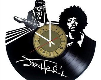 Jimi Hendrix vinyl clock gift for men women kids birthday home decor - unique design that made out of vinyl LP record