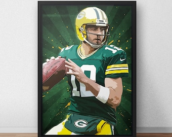 Aaron Rodgers Poster - Green Bay Packers