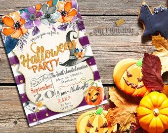Halloween Party Invites / Digital Printable Haunted Mansion Invitation / DIY Party
