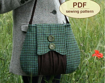 Sewing pattern to make The Poacher's Bag - PDF pattern INSTANT DOWNLOAD