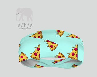 Pizza Headband, Yoga Headband, Fitness Headband, Running Headband, Indie Headband, Custom Headband, Girls Headband, Printed Headband