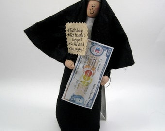 Funny Nun Doll travel-loving sister Catholic gift Sister Hedda Farr