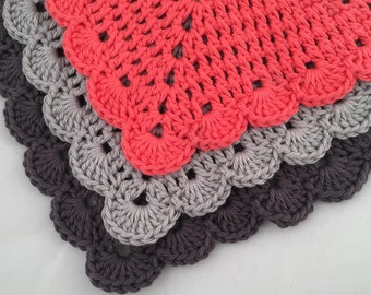 Crochet Washcloths Three Pack - Crochet Dishcloths