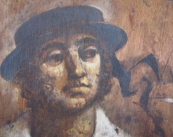 Original Folk Art Painting/John Hull Original Oil Painting/ Maritime Art/ Nautical Art/ Tavern Art