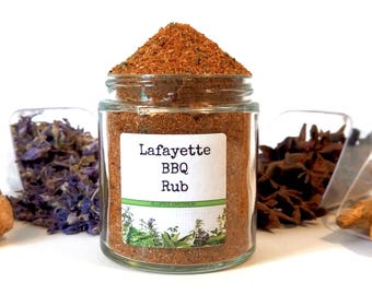 Lafayette BBQ Rub/Dry Rub/Grill Rub/Spice Rack/Gifts For Foodies/Foodie Gift/Seasonings Gifts/Cooking Gift/Chef Gift/Wedding Favors