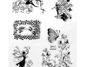 A4 pads silicone - clear Stamp - fairy Theme / Nature - clear stamp plate