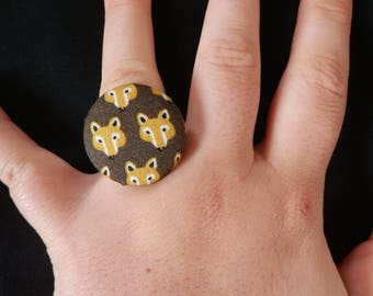 Fox fabric ring