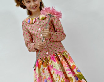 Girls Dresses, Birthday dress, Party Dress, Girls Spring Dress, pink, little girls dresses, Children, Clothing, size 2 - 10, boutique dress