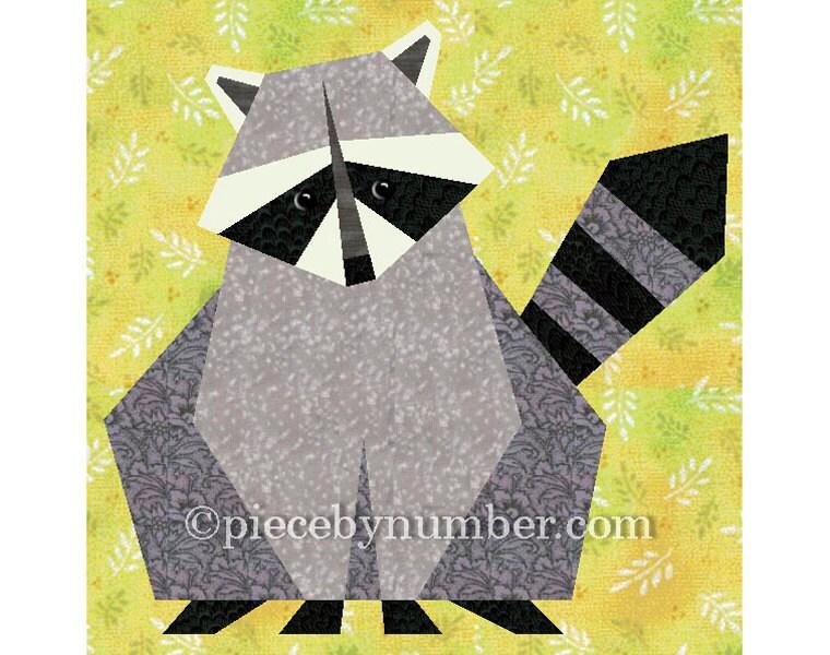 Raccoon quilt block pattern paper pieced quilt patterns : pieced quilt patterns - Adamdwight.com