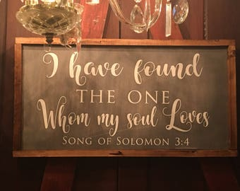 Farmhouse Sign | Song of Solomon 3:4 | Rustic Sign | Custom Sign | Hand-painted Sign | Biblical Sign