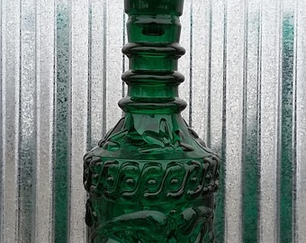 1968 Jim Beam Kentucky Derby Collectible Green Glass Decanter-Vintage Green Decanter-Vintage Whiskey-Vintage Green Glass-Kentucky Derby