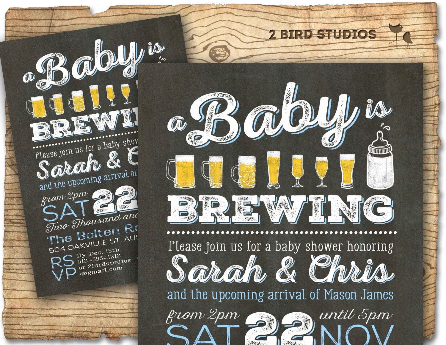 BBQ & Beer baby shower invitation beer diaper party