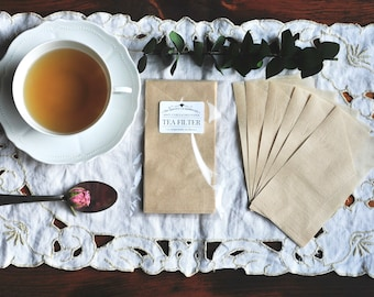 TEA FILTERS | Unbleached | 100% Paper | 25 count