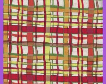 Stripe Plain Cotton FABRIC Fat Quarters Bright Cheery