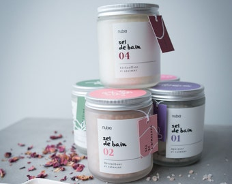 Bath salt organic no03 - pink. 240 ml