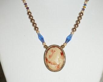 Vintage Art Deco Cameo Necklace