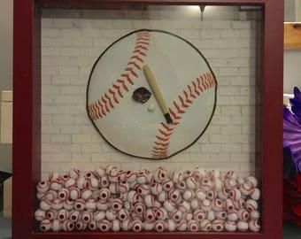 Shadowbox- baseball themed