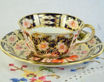 Royal Crown Derby cup and saucer, Imari cup and saucer, Imari 2451