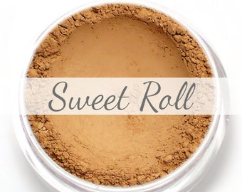 "Eyeshadow Sample - ""Sweet Roll"" - soft matte peachy brown (Vegan) Mineral Makeup Eye Color Pigment"