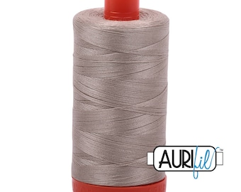 Aurifil Italian Threads-100% Cotton 40wt Piecing and Applique-Large Spool 1092 Yards-5011 Rope Beige