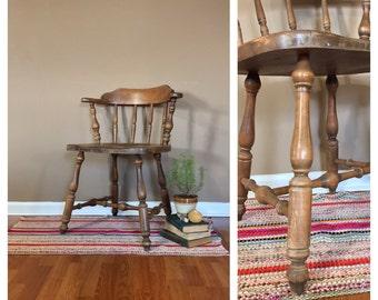 Vintage Wood Chair / Windsor Chair / Vintage Wood Chair / Accent Chair / Wooden Accent Chair / Painted Chair / Distressed Chair