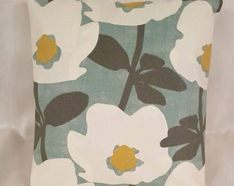 "14"" 16"" 18"" 20"" 22"" 24"" New Cushion Cover Duck Egg Blue Yellow Floral Handmade"