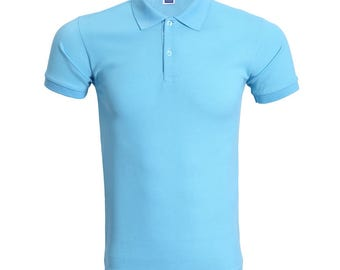 Customise/Personalise Polo Tee Blue Series
