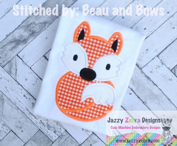 Fox 35 Applique embroidery Design - fox Applique Design - forest animal Applique Design - fall Applique Design