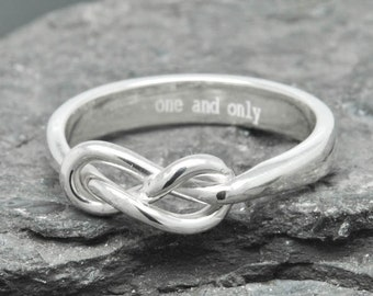 Infinity Ring, Engraving Ring, Best Friend, Promise, Personalized, Friendship, Sisters, Mother Daughter, Sterling Silver, Bridesmaid Gift