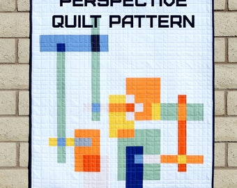 Perspective Quilt Pattern - A Pattern Digital Download (PDF) by Quilting Jetgirl