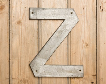 Vintage Letter Z, small letter Z, name, names, wall art, home decor, industrial letter, initial Z