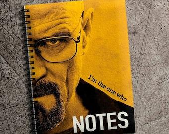 Breaking Bad Notebook A5 Heisenberg Notepad Spiral Notebook A4 Breaking Bad Writing Journal TV notebook Handmade Notepad Gift A4 Notebook