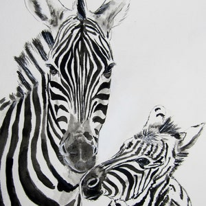 Awesome Zebras Print Zebra Painting Wall Decor Home Watercolor