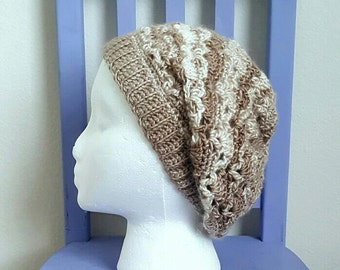 Vintage Sloucy Beanie Crochet Pattern *PDF FILE ONLY* Instant Download