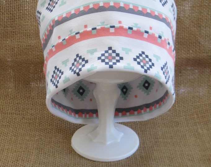 Chemo Cap or Beanie Soft Summer Stripe Cotton Womens Chemo Hat and Headgear