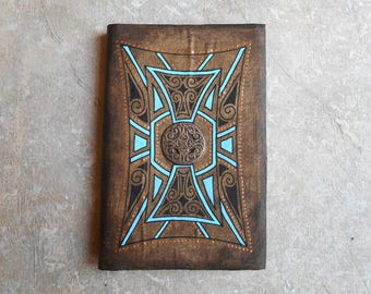 Notebook - ethnic sketchbook - journal - diary - gift for Traveler - Medallion