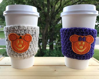 Mr and Mrs Mouse Pumpkin Coffee Cozies