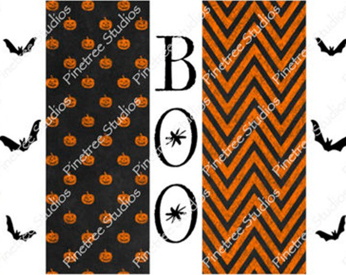 Orange Boo and Bats ~ Sublimation Artwork for Mugs / Digital Download Only