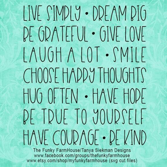"SVG & PNG - ""Live Simply ...Dream Big """