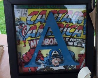 Handcrafted 'Marvel' Personalised Inital frame