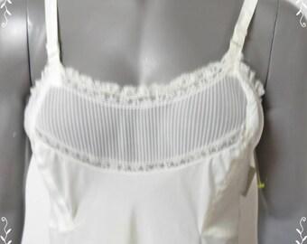 Vintage Nylon Full Slip Seamprufe Size 24  #003