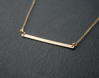 Skinny Bar - gold filled necklace - minimalist