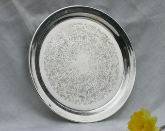 Tray - Reed & Barton - Silver Plate - Round - 10 Inches - Vintage
