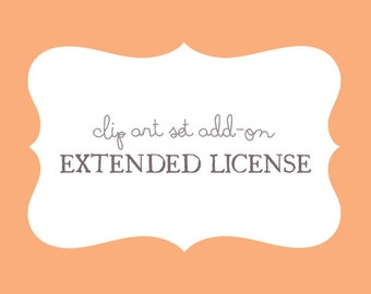 Extended License - Clip Art Set Add-on - by Reani on Etsy