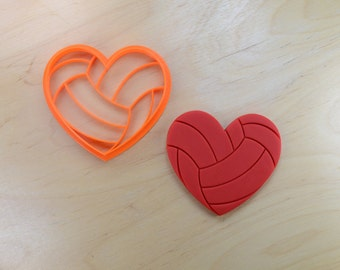 Volleyball Love Cookie Cutter